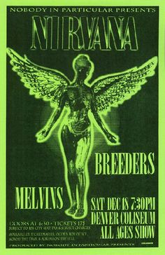 Nirvana and Breeders; I wish I could have gone to this show!
