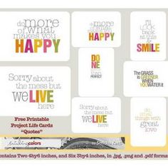 http://www.smilingcolors.com/2012/02/freebie-friday-project-life-quotecards/