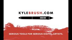 Kyle's Ultimate Brushes for Photoshop. Gorgeous brushes that mimic water color, oils, pencils, markers and more!