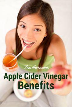 Ten Awesome Apple Cider Vinegar Benefits