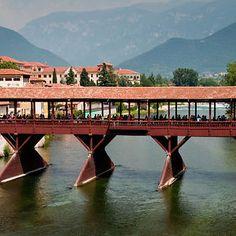 Bassano Del Grappa - Italy Wood Bridge Since 1209 Dc