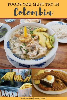 Foods you must try in Colombia #colombia #colombiafood