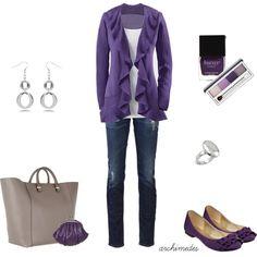 """Purple, Purple, Purple"" by archimedes16 on Polyvore"