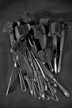 Natura Morta by Studio Toogood Dark Colors, Gray Color, Colour, Artichoke Flower, Dark Sugars, Faye Toogood, Dinner Wear, Cheese Rolling, Life Paint