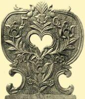 Carved back of a chair  Veszprém County