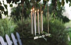 Wedding Candle Ideas: Hanging Candle Chandelier