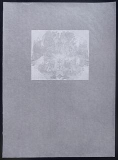 """Hermann and I, fall 1994 - white Etching on glacine, edition of 4 15""""x22"""" 2011"""