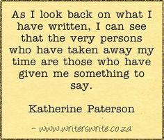 Quotable - Katherine Paterson - Writers Write