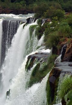 Iguazu Falls, on the border of Brazilian State Paraná and Argentine Province Misiones. The falls are shared by the Iguazú NP (Argentina) and Iguaçu NP (Brazil), both UNESCO World Heritage Sites. Can be reached from Puerto Iguazú in Argentina and Foz do Iguaçu in Brazil, as well as from Ciudad del Este, Paraguay.