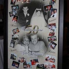 Memory boards allow for photos of a couple throughout their 50-year history.