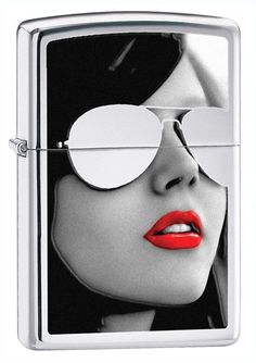 Sunglasses High Polish Chrome Windproof Zippo Lighter #28274