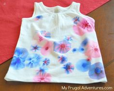 DIY 4th of July T-Shirts (Sharpie Tie-Dye) The ingredients you need to pull together:      Plain shirt or any other clothing item you want     Sharpies in any color     Isopropyl Alcohol     Eye Dropper     Iron     Cute kid