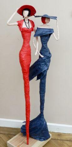 Ideas For Diy Paper Mache Crafts Sculpture Art Dolls Paper Mache Projects, Paper Mache Clay, Paper Mache Sculpture, Paper Mache Crafts, Sculpture Art, Diy Projects, Garden Sculptures, Sculpture Ideas, Diy Paper