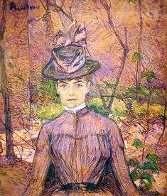 Portrait of the Artist Suzanne Valadon by Toulouse Lautrec (1885)