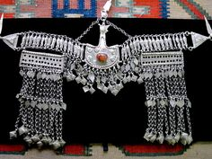 !!! ~ Vintage Afghan Hazara Tribal Jewelry Headdress
