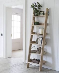 Elegant Small Leaning Ladder Shelf