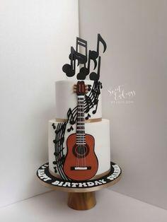 Music Speaks by Lulu Goh I love quitars!- Music Speaks by Lulu Goh I love quitars! Music Speaks by Lulu Goh I love quitars! Music Themed Cakes, Music Cakes, Unique Cakes, Creative Cakes, Bolo Fashionista, Beautiful Cakes, Amazing Cakes, Fondant Cakes, Cupcake Cakes