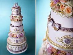 """""""Let them eat cake!"""" Marie Antoinette inspired Wedding Cake"""