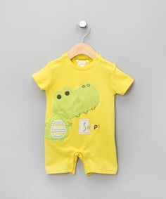 Yellow 'Snap!' Romper
