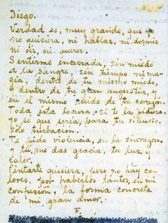 frida, carta para diego - letter to diego
