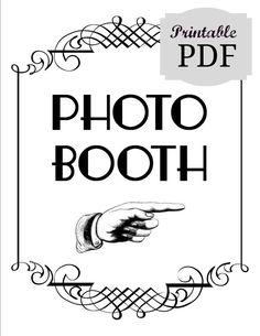 Diy Printable Pdf Photo Booth Sign Prop Photobooth Wedding Decor Photos Reception