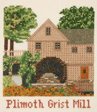 Plimoth Grist Mill Counted Cross Stitch Kit
