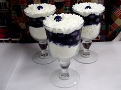 Fruit Parfait Goblet Candle Scented in Blueberry Cobbler by Fresh Bakery Candles