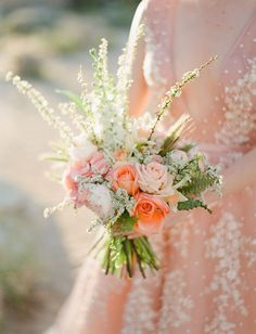 A Dreamy Pink Wedding Dress and Stunning Bouquet captured in Joshua Tree - Green Wedding Shoes. Gorgeous Bridal Bouquet Colour combination for Spring, Summer Wedding and Elopement! Pink Wedding Dresses, Green Wedding Shoes, Tulle Wedding, Floral Wedding, Wedding Colors, Wedding Bouquets, Wedding Flowers, Dream Wedding, Parisian Wedding