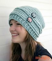 Ravelry: Ups and Downs Crochet Slouchy Beanie pattern by Tamara Kelly