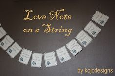 Love note on a string by Kojo Designs Sweet Notes, Love Notes, Lovers Lane, Successful Marriage, I Love You, My Love, Dating Divas, Husband Love, More Than Words