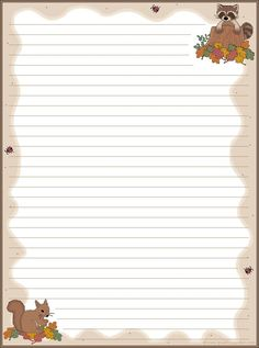 More Fall Stationery Printable Lined Paper, Free Printable Stationery, Free Printables, Cute Journals, Notebook Paper, Journal Paper, Writing Paper, Note Paper, Paper Decorations
