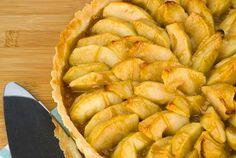 Easy Gluten Free Caramel Apple Tart Recipe using Chebe Cinnamon Roll Mix for crust