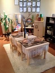 Dramatic Play: It's Brain Smart! - Fairy Dust Teaching I love this table setting :) Reggio Inspired Classrooms, Reggio Classroom, Classroom Design, Classroom Decor, Classroom Organisation, Organization, Play Based Learning, Early Learning, Learning Centers