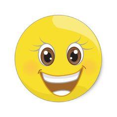 Super Happy Smile Emoji Stickers - fun gifts funny diy customize personal