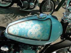 Lace Paint job ... wonder if Beth would like her bicycle painted something like this