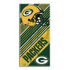 Green Bay Packers NFL Fiber Reactive Beach Towel (Diagonal Series) (28in x 58in)