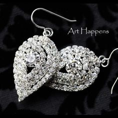 Dripping Tears, statement earrings for special events, weddings, proms, brides.  via Etsy.