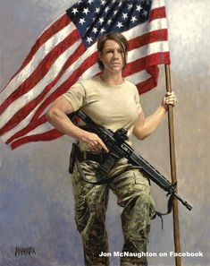 artwork of a soldier with american flag wings Jon Mcnaughton, Litho Print, Strong Family, Female Soldier, Female Pilot, Military Women, Military Honors, Armed Forces, American Flag