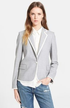 Theory 'Elisity' Flannel Blazer available at #Nordstrom