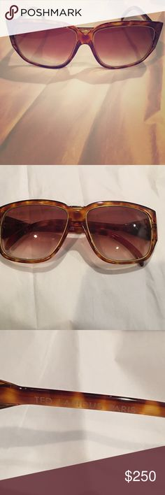 Vintage Ted Lapidus men's sunglasses Fab 1970's sunglasses from Paris, France. Very rare. One of the few gentlemen's models by Ted Lapidus. Great vintage condition. No scratches on lenses. Plastic, tortoise shell frames with gold tone accents. Ted Lapidus Vintage Accessories Sunglasses