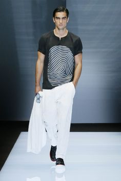 A closer look at the Emporio Armani Men's Spring Summer 2017 fashion show