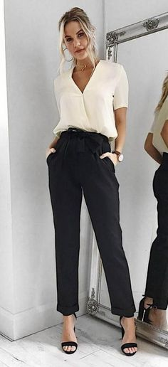 Most Perfect Outfit Ideas To Look Feminine And Elegant - corporate attire women Office Fashion Women, Black Women Fashion, Work Fashion, Corporate Fashion Office Chic, Working Woman Fashion, Office Style Women, Women's Fashion, Fashion Online, Fashion Dresses