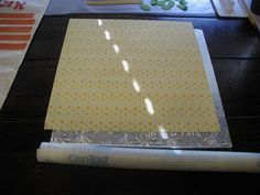 How to Cover a 12 x 12 Cake Board with Scrapbook Paper! - by PeggyDoesCake @ CakesDecor.com - cake decorating website