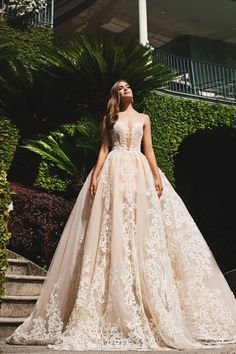 Statement-making gown from Milla Nova featuring exquisite lace detailing! » Praise Wedding Community