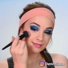 white eyeliner make-up tutorial Denitslava Makeup, Full Face Makeup, Eyeshadow Makeup, Eyeliner Make-up, White Eyeliner, Teenage Makeup, Full Makeup Tutorial, Makeup Tutorial Videos, Diy Tutorial