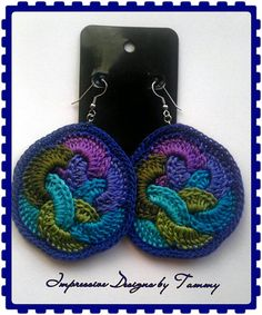 I need these in my life!!!!!!Fruit Loops Crochet Earrings by ImpressiveDesigns on Etsy