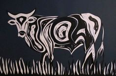 nguni paper cutting Glass Engraving, Cow Art, Winter Holidays, Cows, Cattle, Paper Cutting, Art Ideas, Quilts, Facebook
