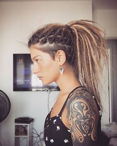 Simple dreadlock, undercut for women hippie gypsy fashion aesthetic