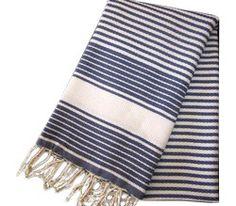 Fouta Honeycomb Weave Stripe Bath Towel