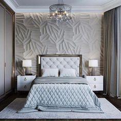 trendy bedroom bed back design Elegant Bedroom Design, Luxury Bedroom Design, Bedroom Bed Design, Elegant Home Decor, Luxury Home Decor, Luxury Interior Design, Home Interior, Bedroom Decor, Bedroom Ideas